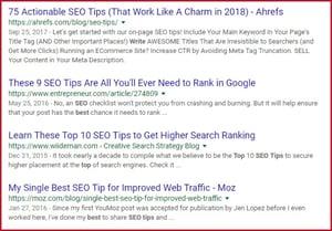 Google Listing 1